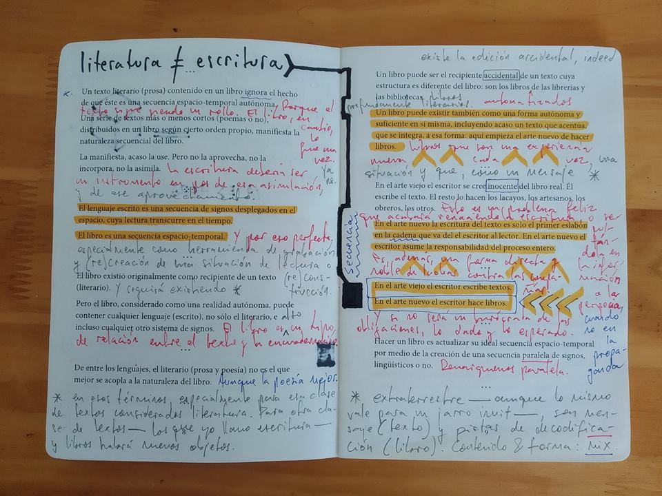 Intervención y reescritura de El arte nuevo de hacer libros de Ulises Carrión